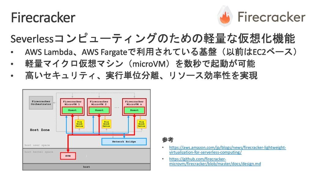 • https://aws.amazon.com/jp/blogs/news/firecrac...