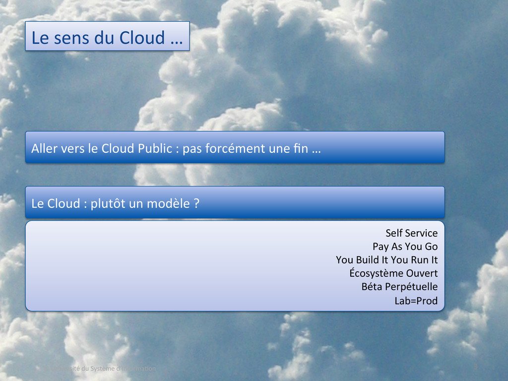 Le sens du Cloud …  3  © U...