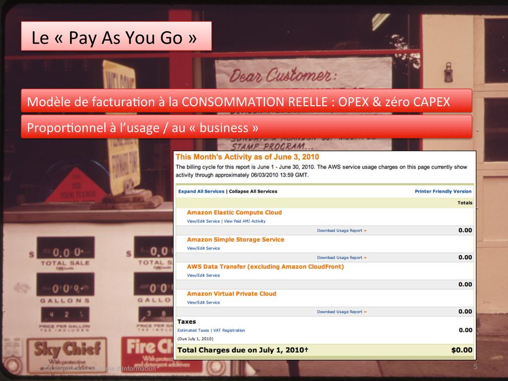 Le « Pay As You Go »   ...