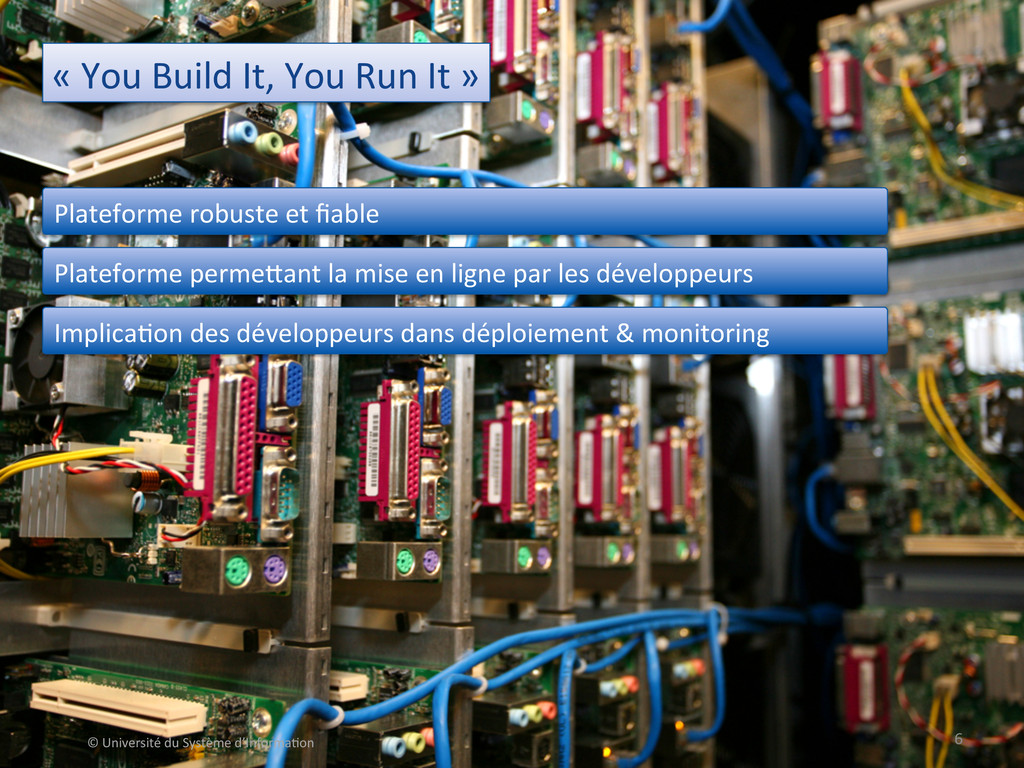 « You Build It, You Run It ...