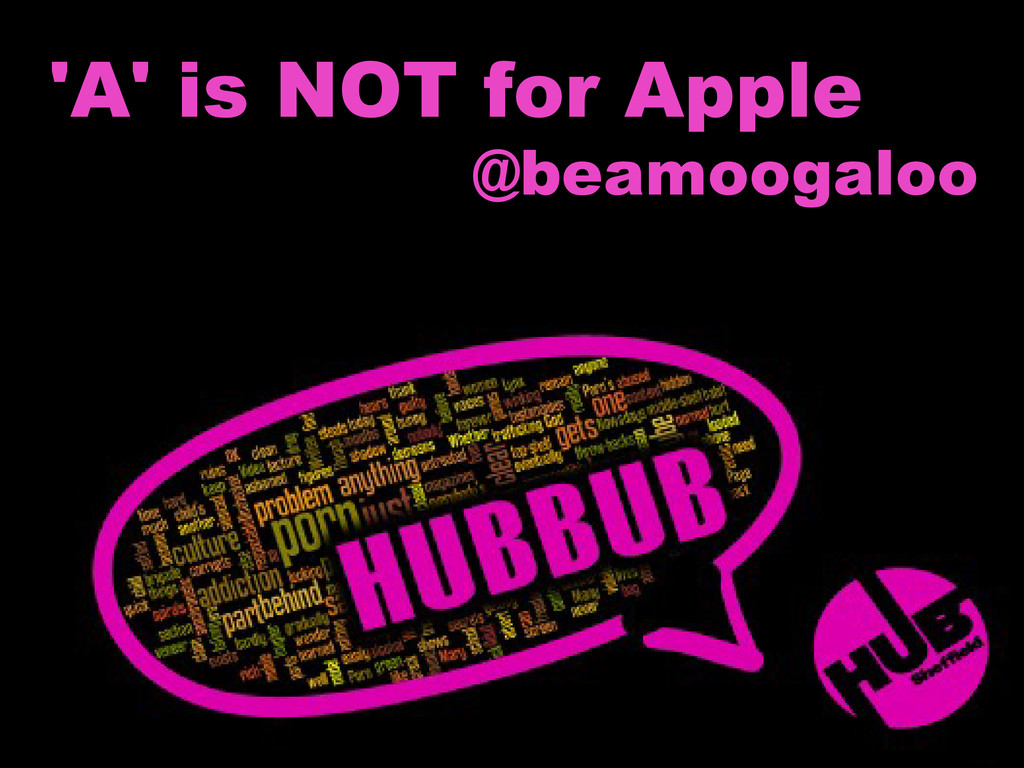 'A' is NOT for Apple @beamoogaloo