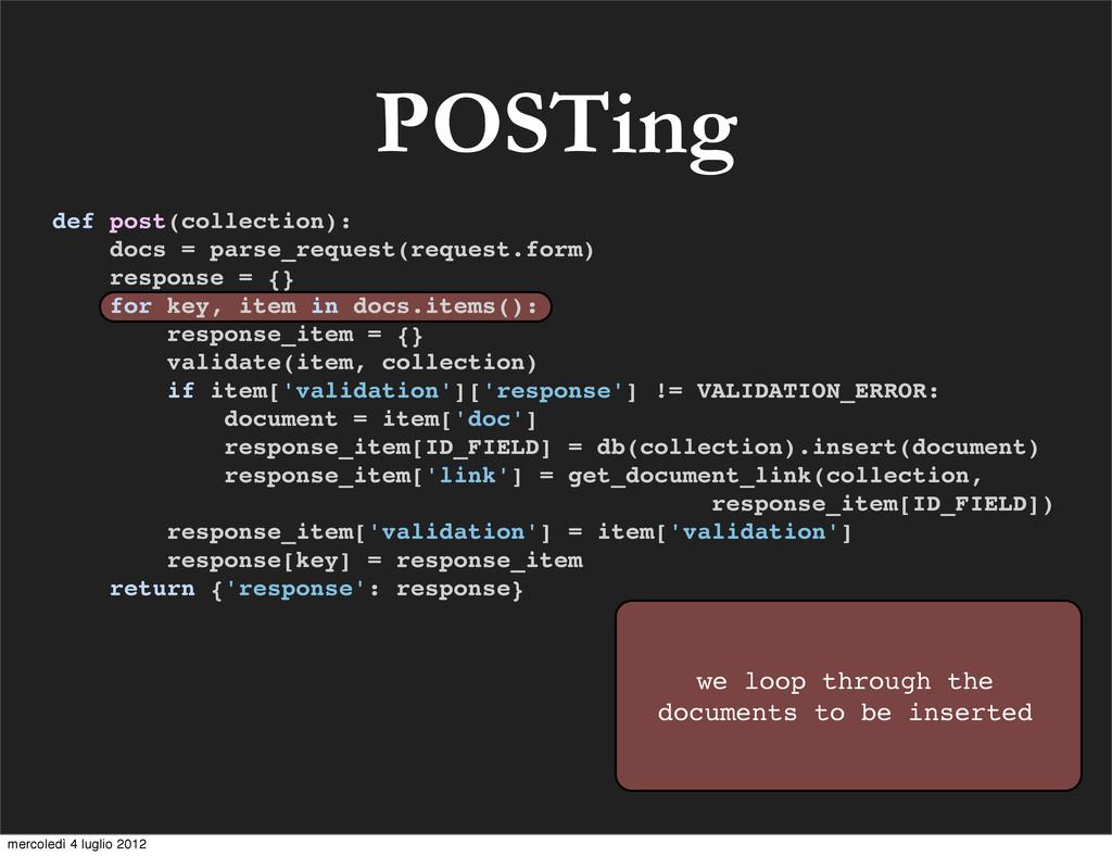 def post(collection): docs = parse_request(requ...