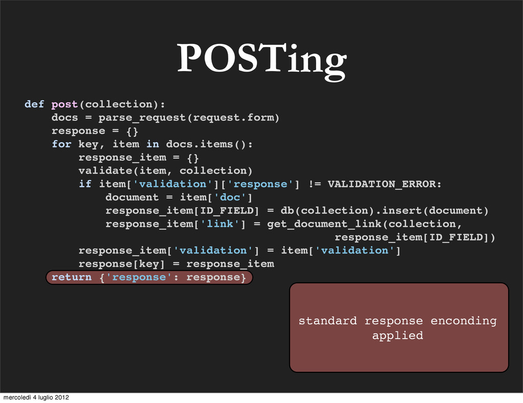 POSTing standard response enconding applied def...