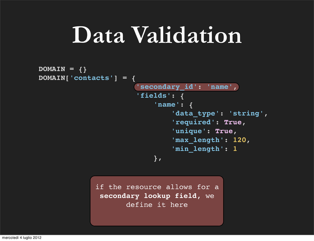Data Validation if the resource allows for a se...