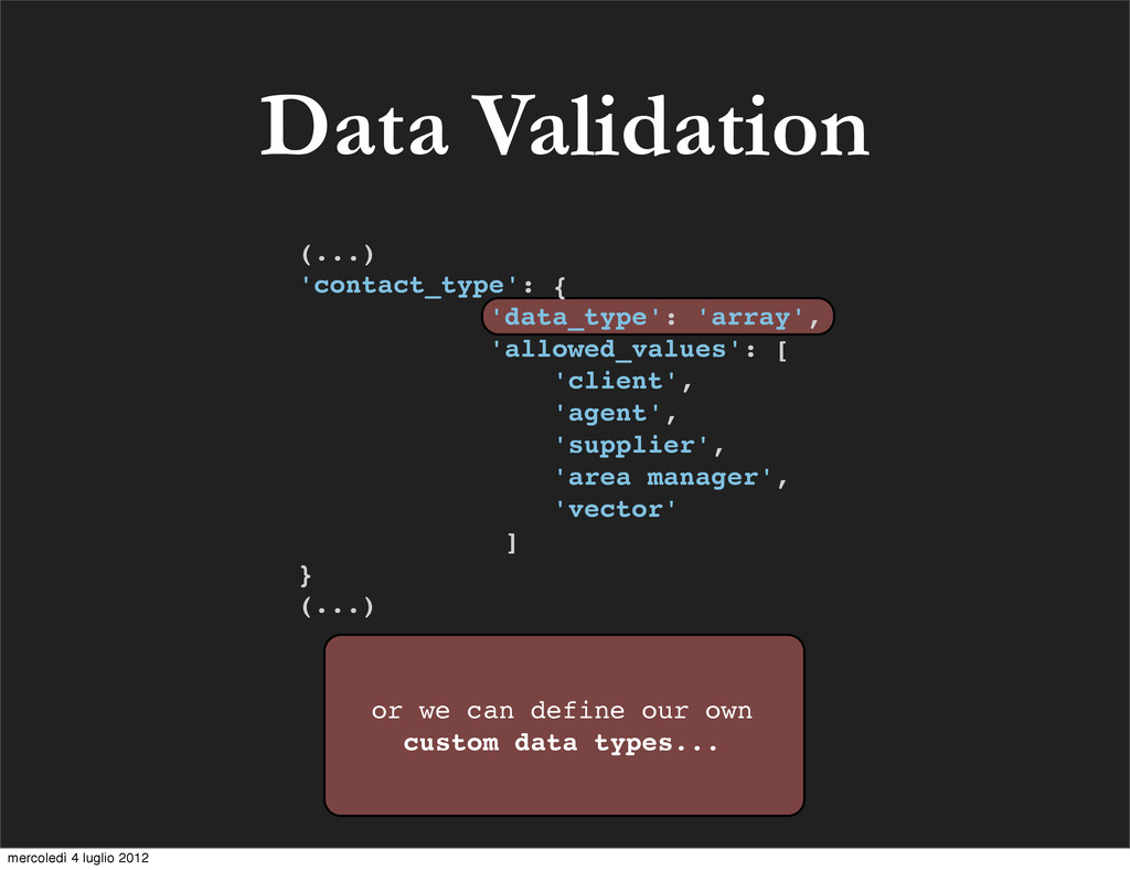 Data Validation or we can define our own custom...