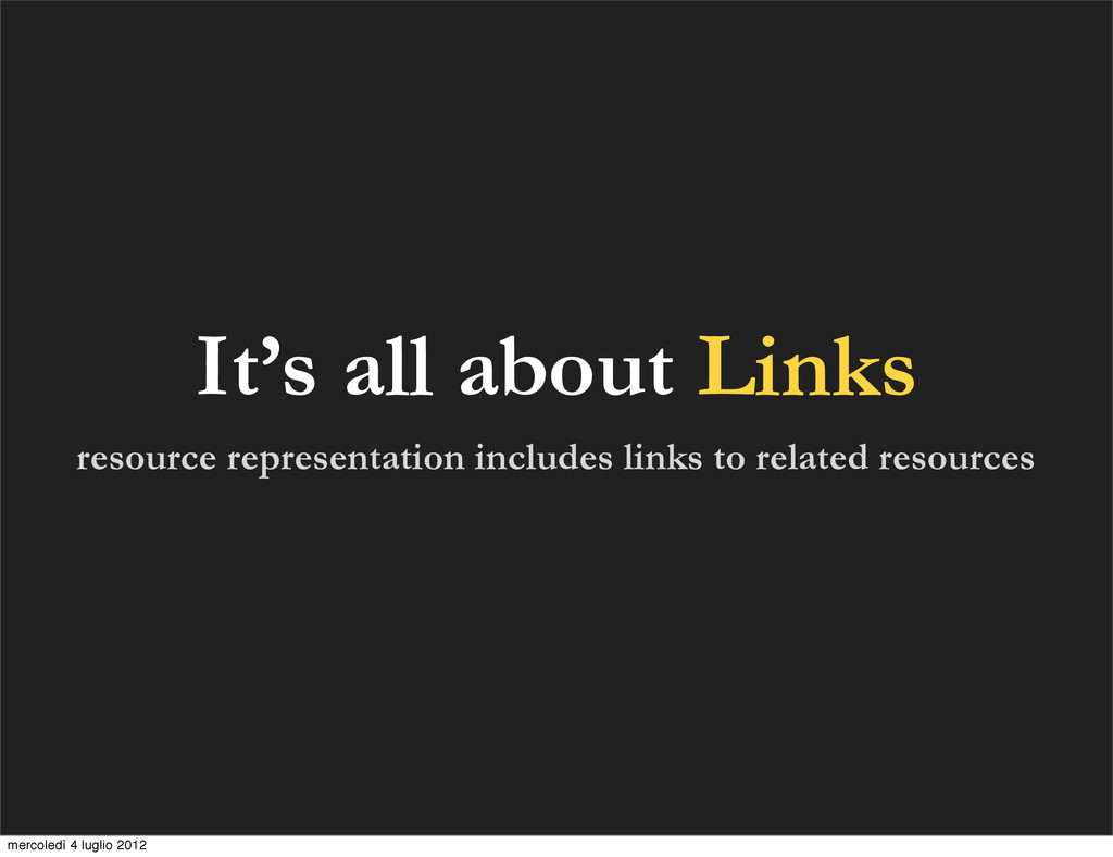 It's all about Links resource representation in...