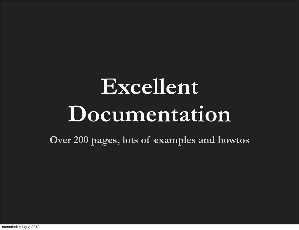 Over 200 pages, lots of examples and howtos Exc...