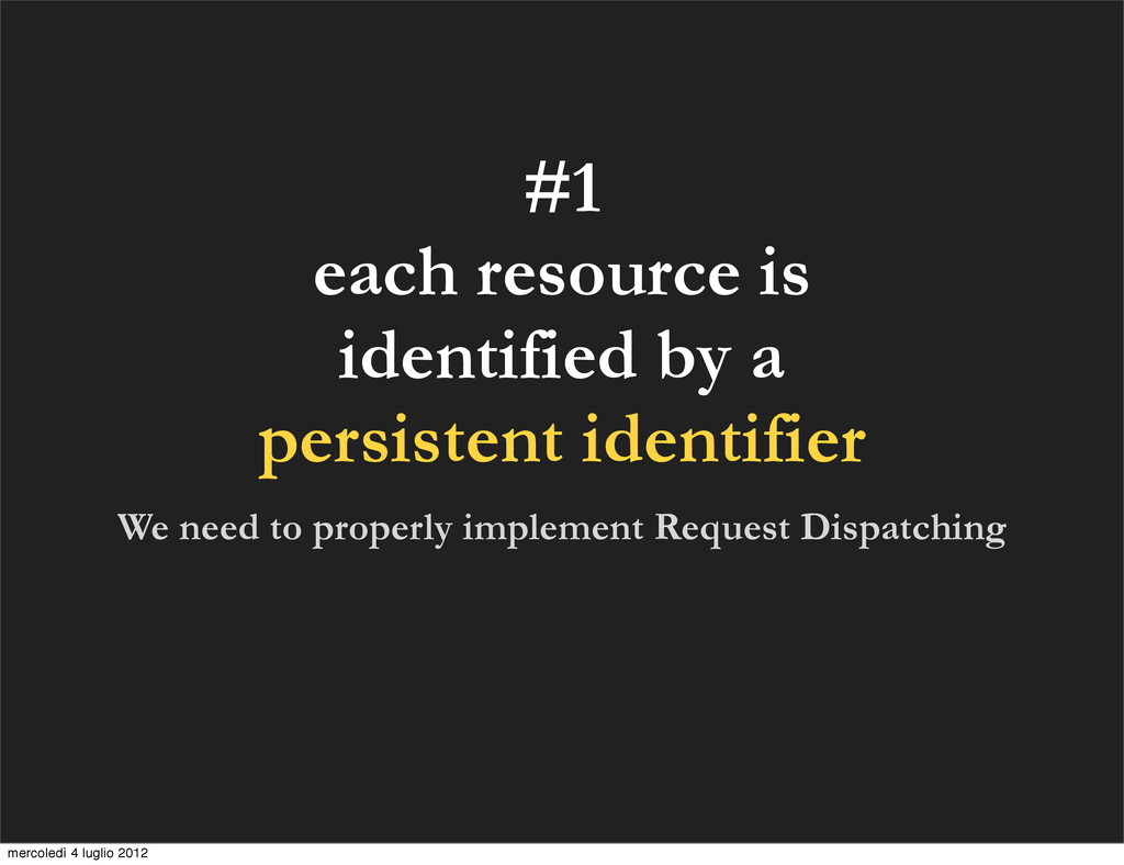 #1 each resource is identified by a persistent ...