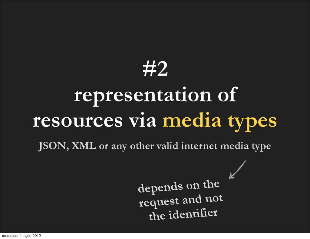#2 representation of resources via media types ...