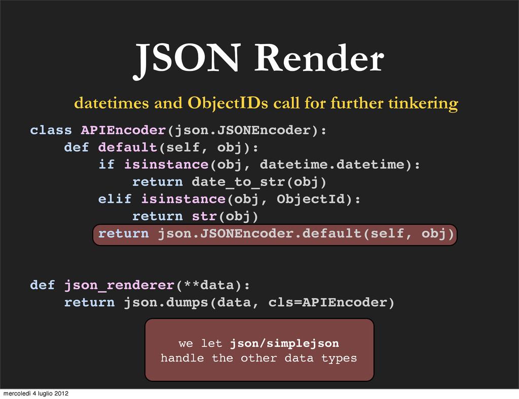 JSON Render we let json/simplejson handle the o...