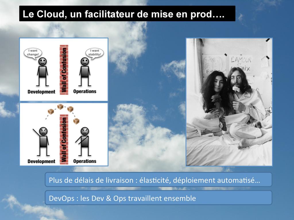 Le Cloud, un facilitateur de mise en prod…. Dev...