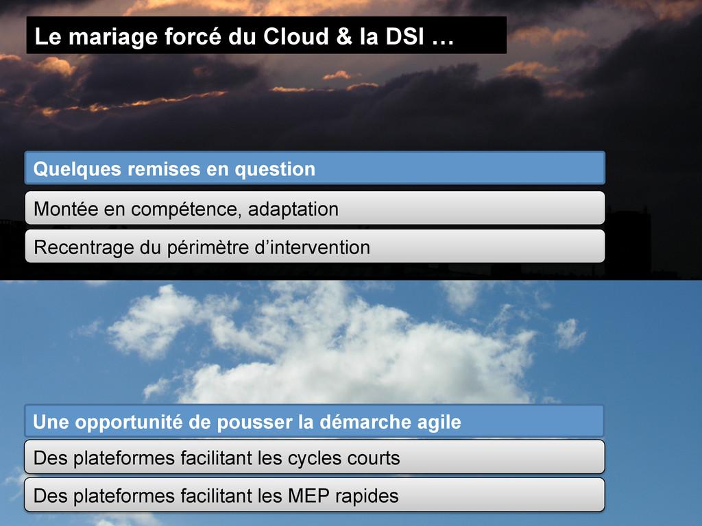 Le mariage forcé du Cloud & la DSI … Quelques r...