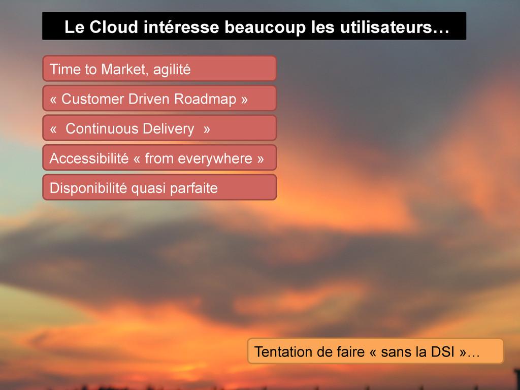 Le Cloud intéresse beaucoup les utilisateurs… T...
