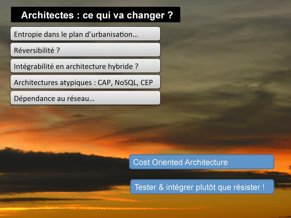 Architectes : ce qui va changer ? Entropie d...