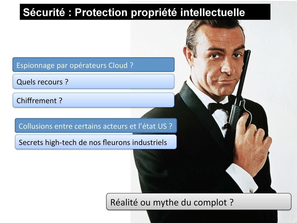 Sécurité : Protection propriété intellectuelle ...