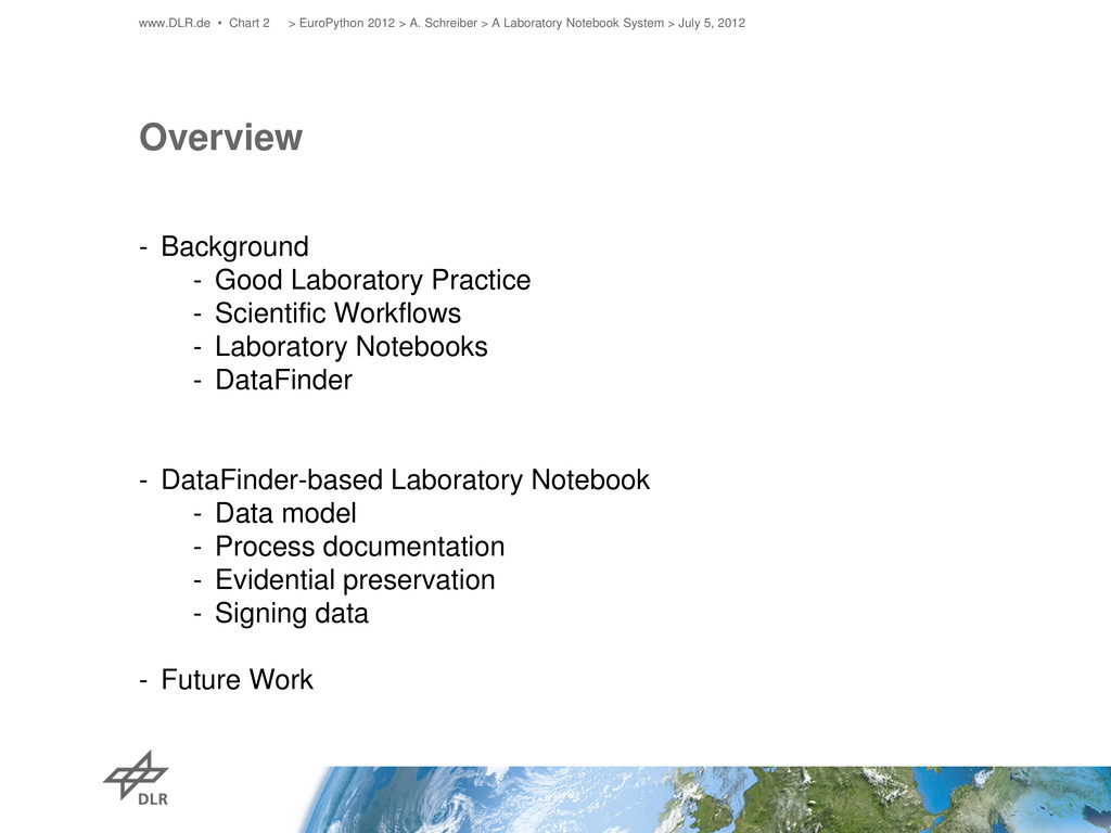 Overview - Background - Good Laboratory Practic...