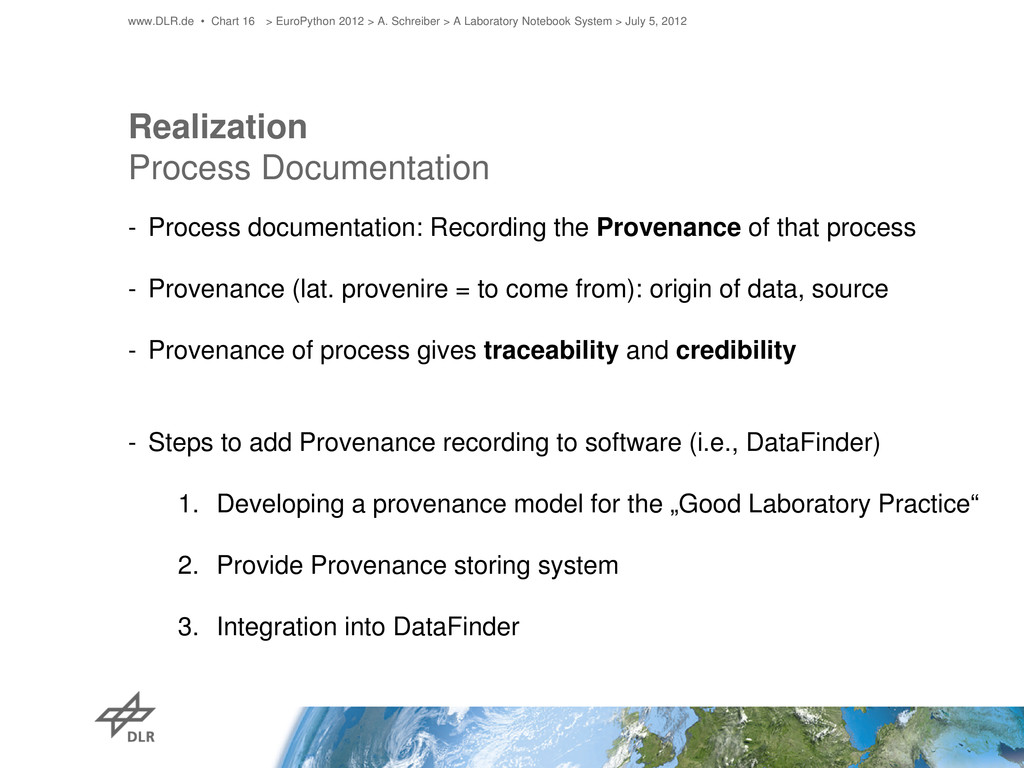 Realization Process Documentation - Process doc...