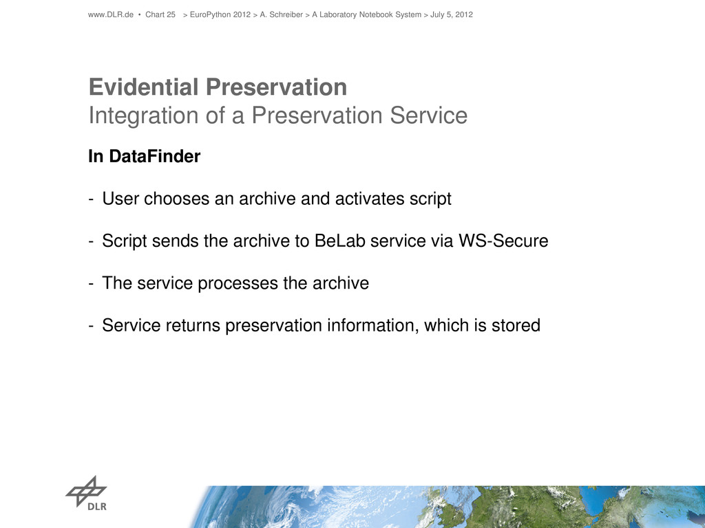 Evidential Preservation Integration of a Preser...