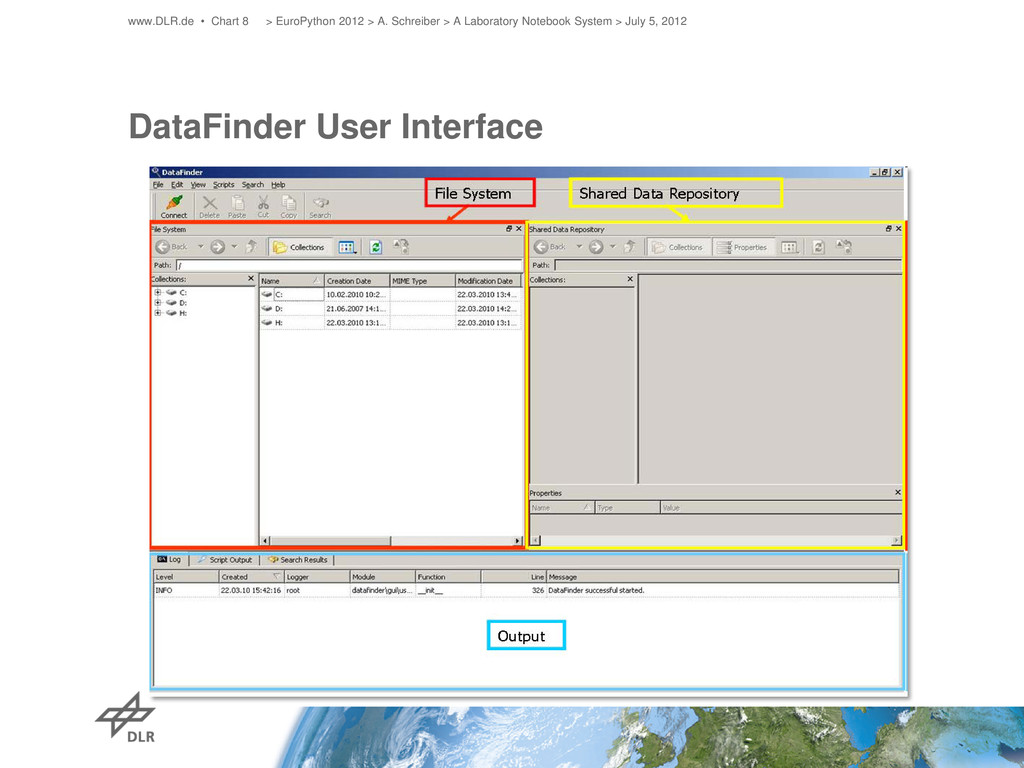 DataFinder User Interface www.DLR.de • Chart 8 ...