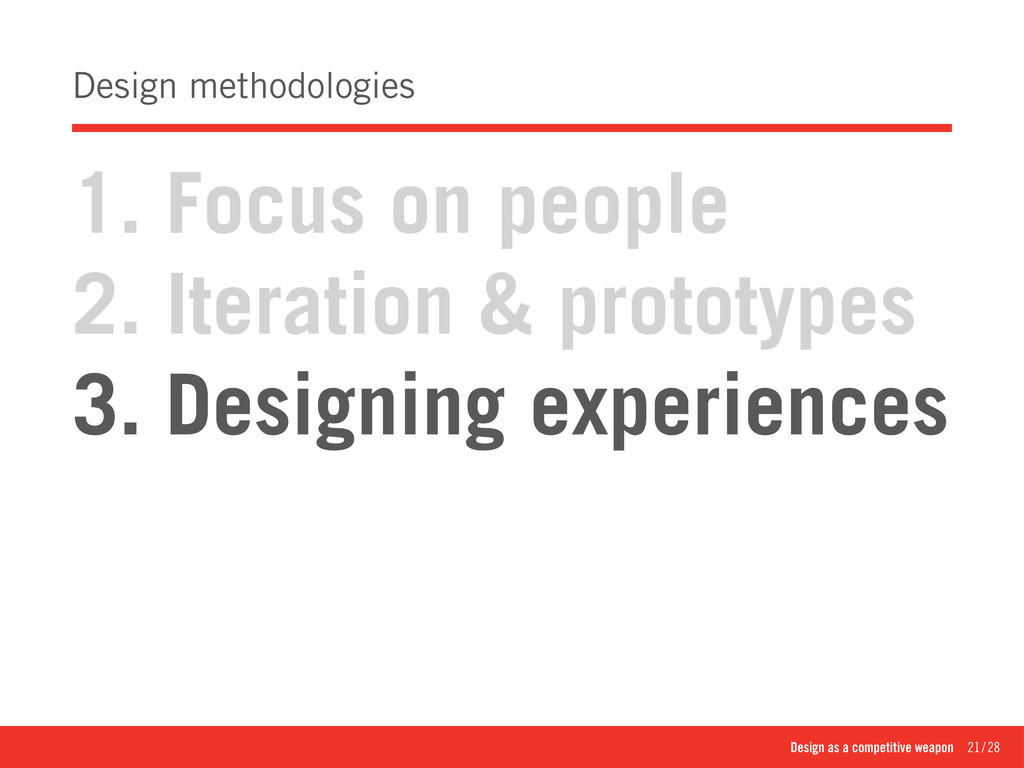 Design as a competitive weapon 21/28 Design ...