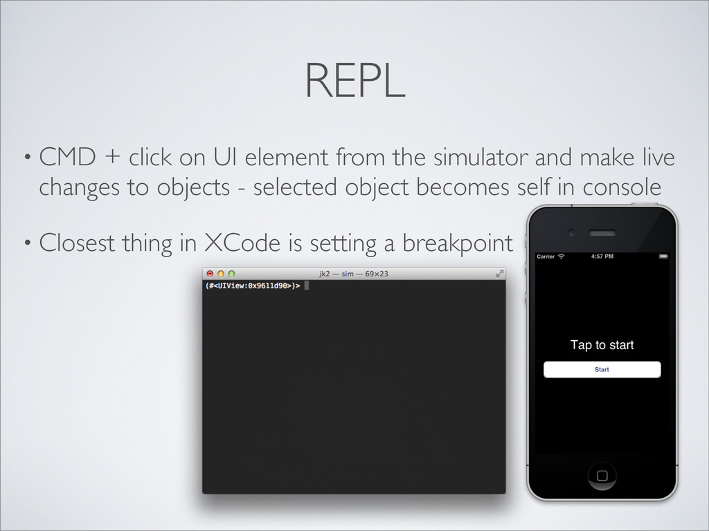 REPL • CMD + click on UI element from the simul...