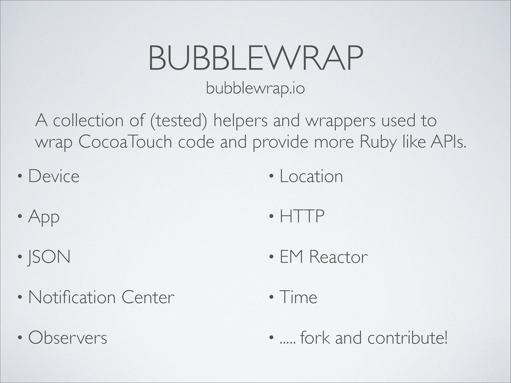 BUBBLEWRAP • Device • App • JSON • Notification ...