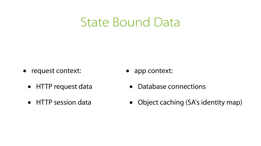 State Bound Data • request context: • HTTP requ...