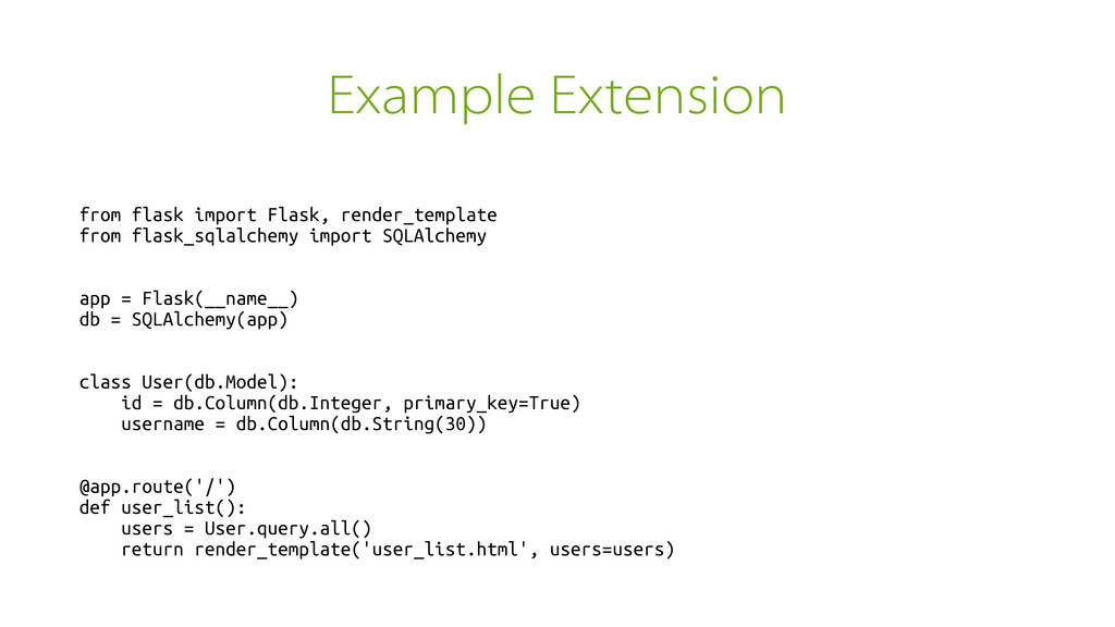 Example Extension from flask import Flask, rend...
