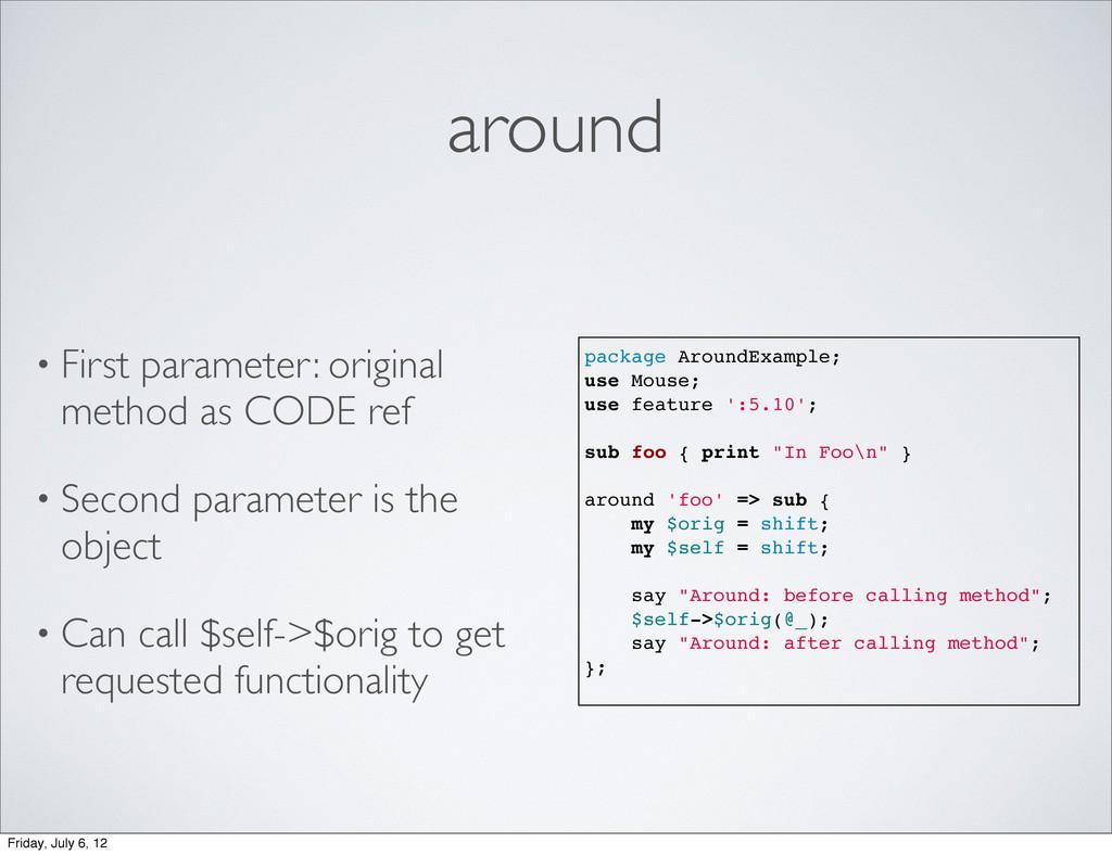 around • First parameter: original method as CO...