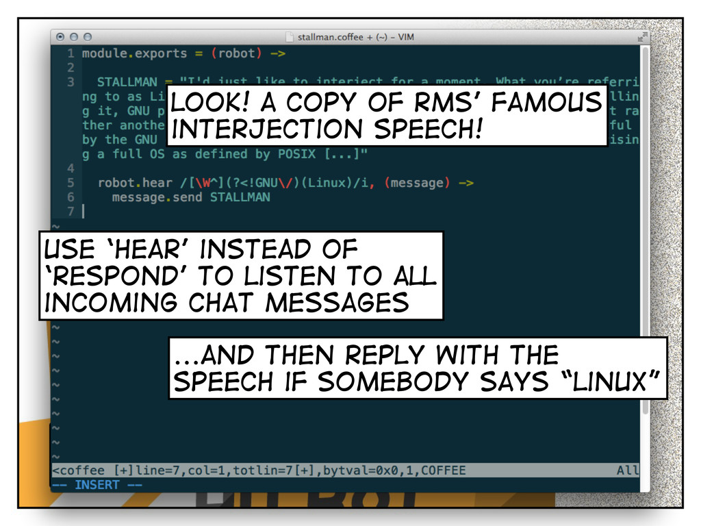 look! a copy of rms' famous interjection speech...