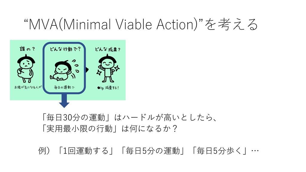 """""""MVA(Minimal Viable Action)""""を考える 「毎日30分の運動」はハード..."""