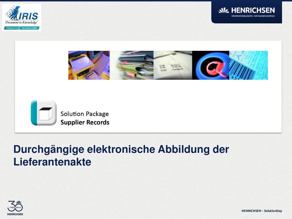 Durchgängige elektronische Abbildung der Liefer...