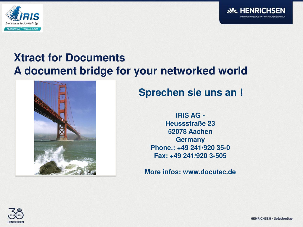 Xtract for Documents A document bridge for your...