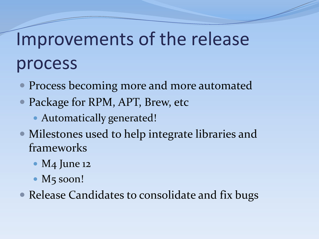 Improvements of the release process  Process b...