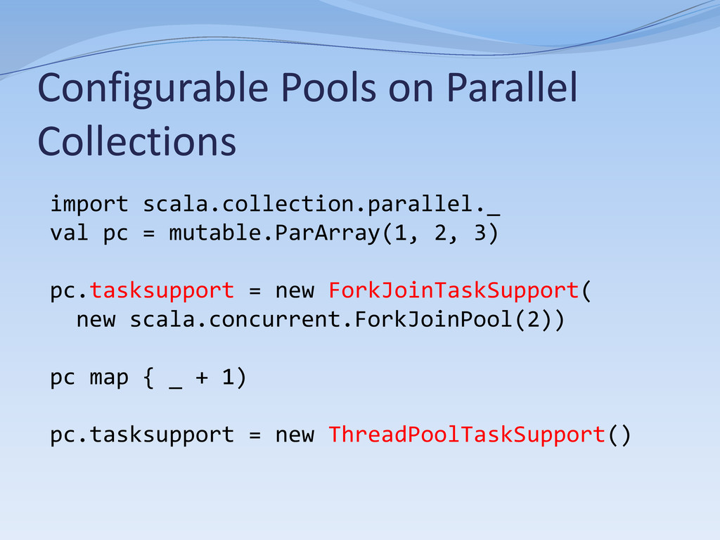Configurable Pools on Parallel Collections impo...