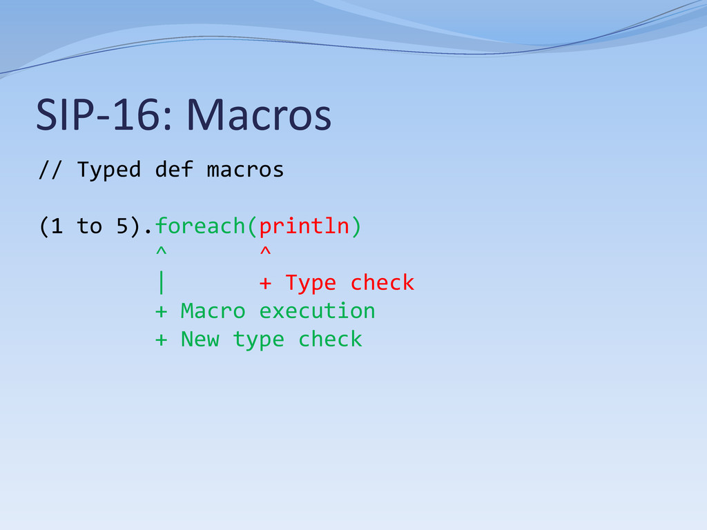 SIP-16: Macros // Typed def macros (1 to 5).for...