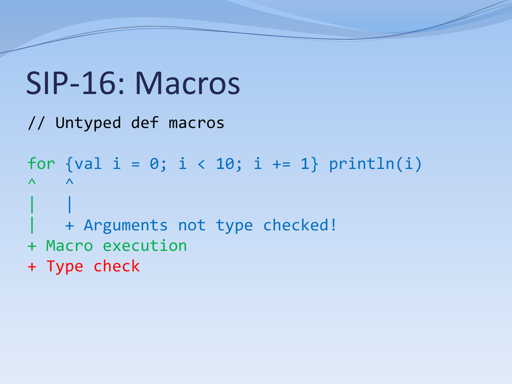 SIP-16: Macros // Untyped def macros for {val i...