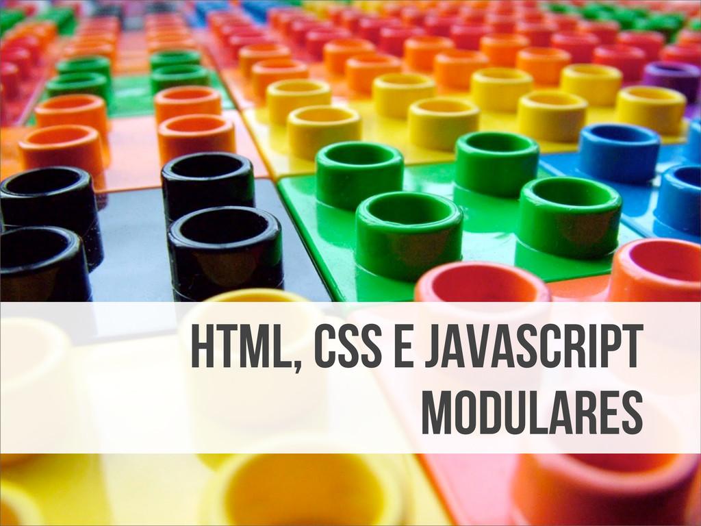 HTML, CSS e JavaScript modulares