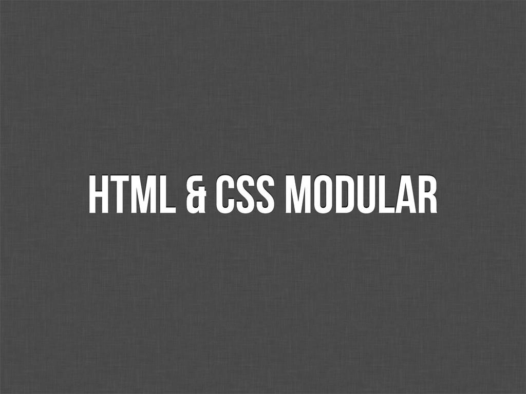 HTML & CSS modular