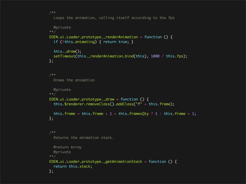 /** Loops the animation, calling itself accordi...