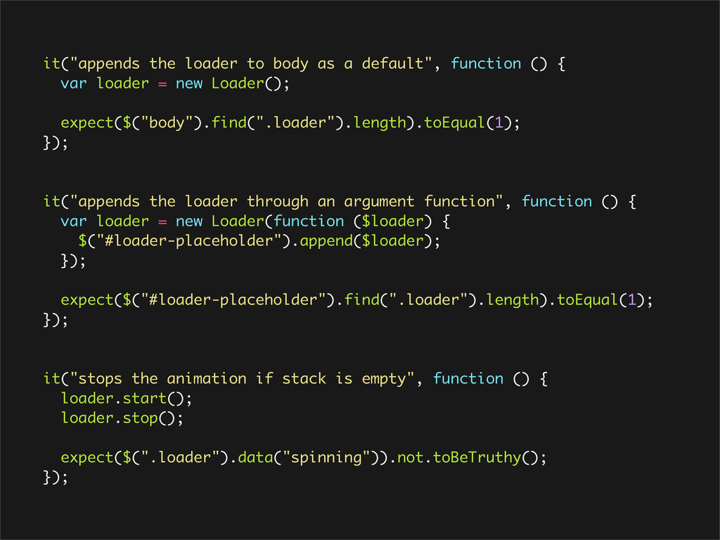 "it(""appends the loader to body as a default"", f..."