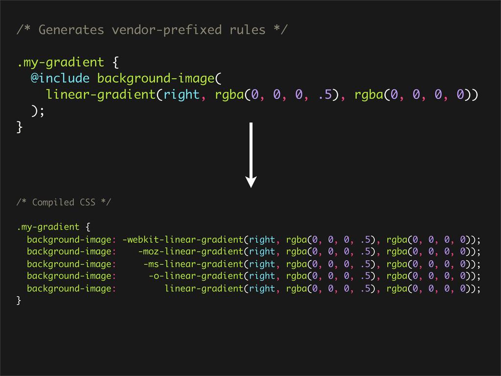 /* Generates vendor-prefixed rules */ .my-gradi...