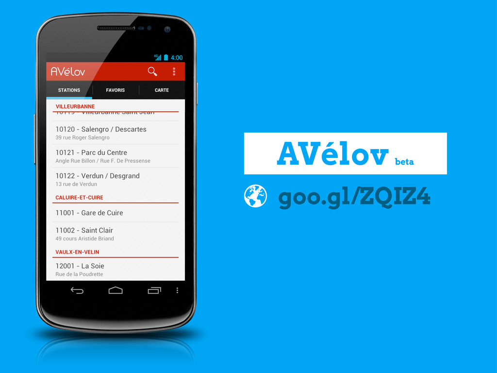 goo.gl/ZQIZ4 AVélov beta