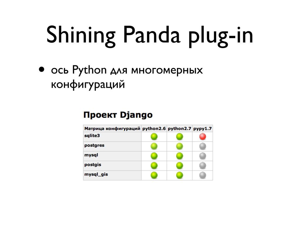 Shining Panda plug-in • ось Python для многомер...
