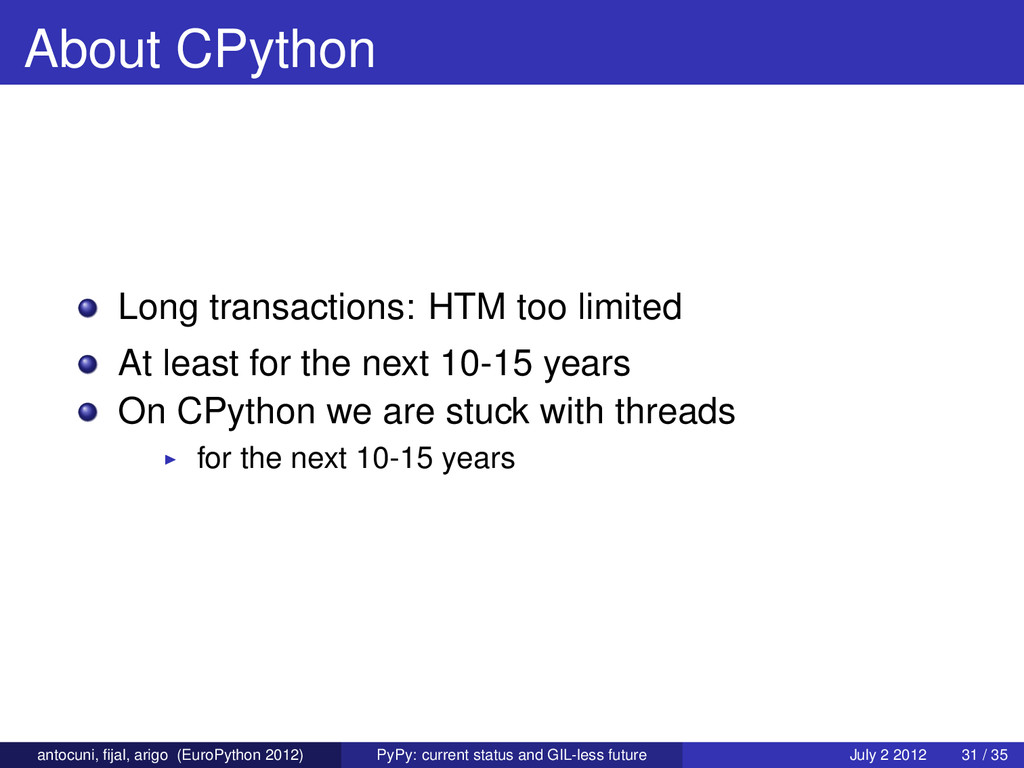 About CPython Long transactions: HTM too limite...