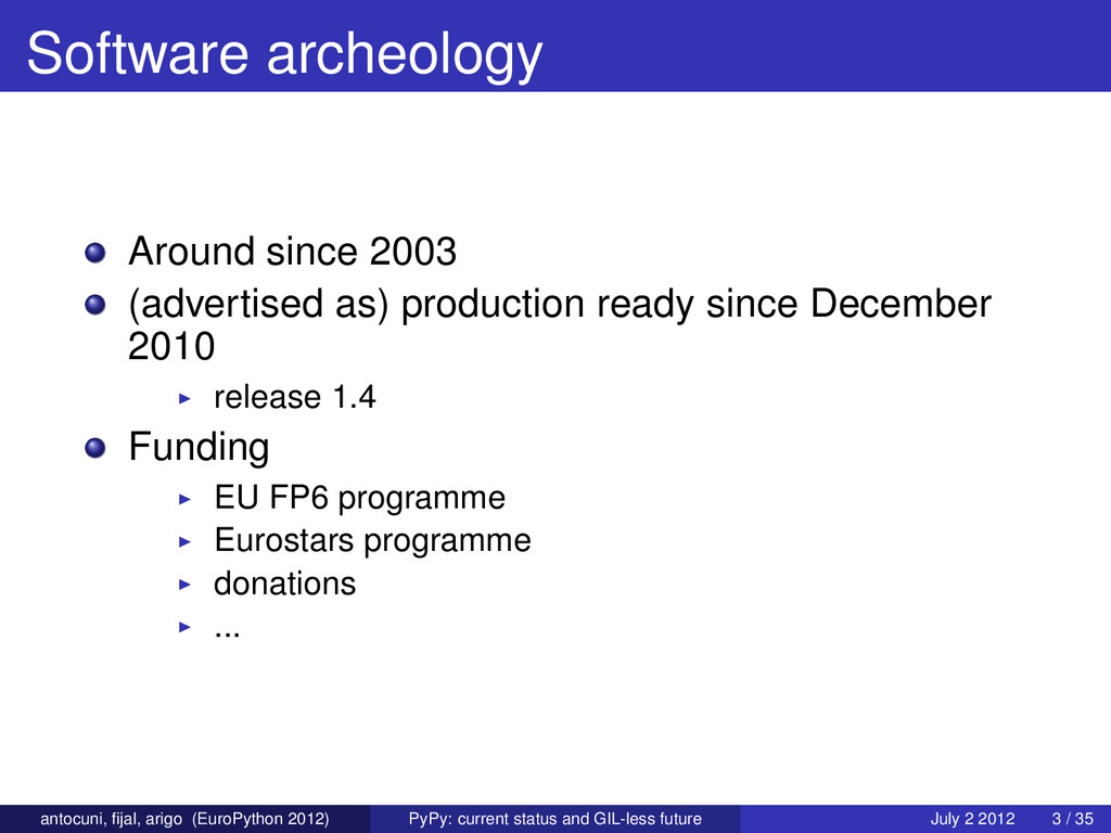 Software archeology Around since 2003 (advertis...