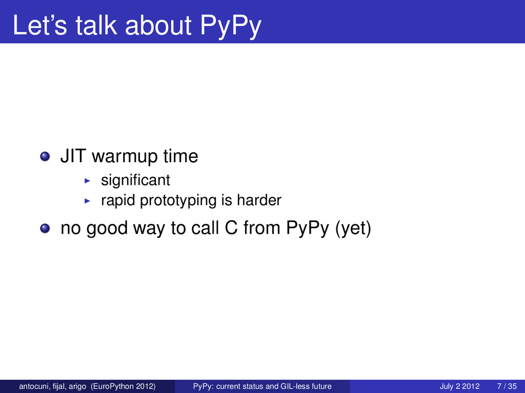 Let's talk about PyPy JIT warmup time significan...