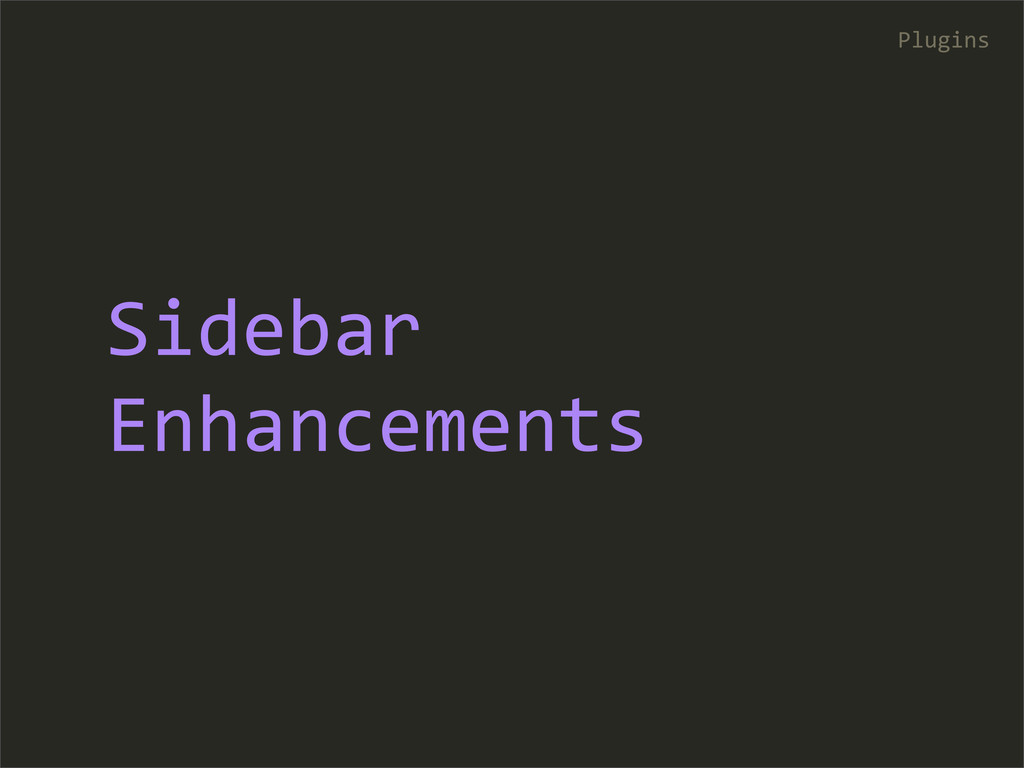 Sidebar  Enhancements Plugins