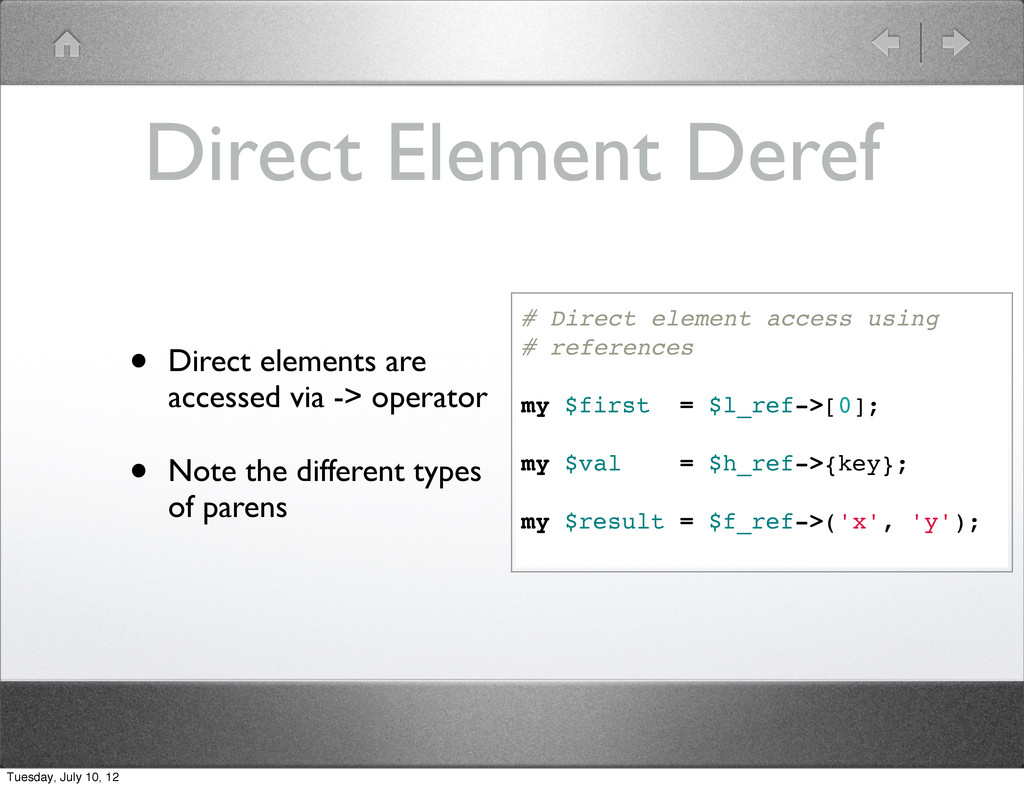 Direct Element Deref • Direct elements are acce...