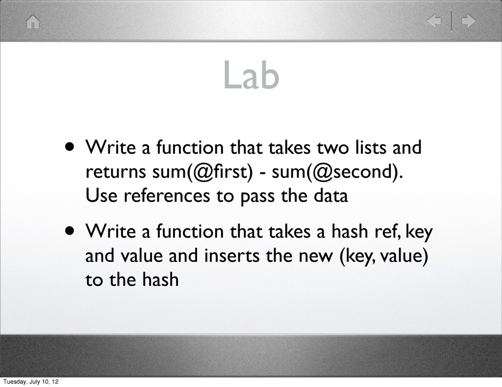 Lab • Write a function that takes two lists and...